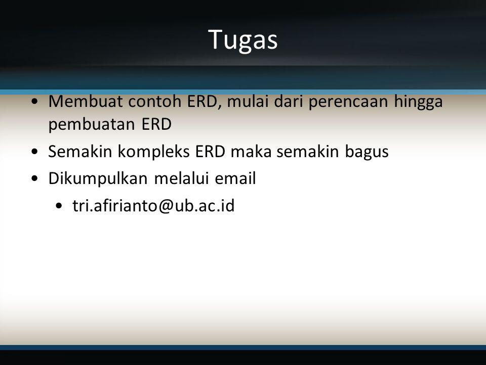 Tugas Membuat contoh ERD, mulai dari perencaan hingga pembuatan ERD