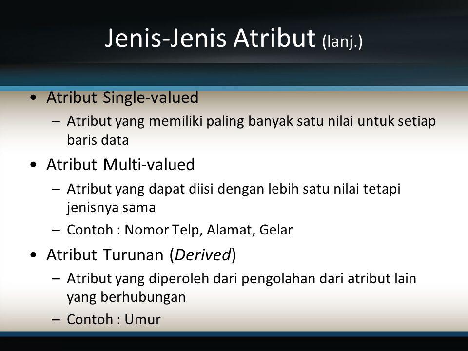 Jenis-Jenis Atribut (lanj.)