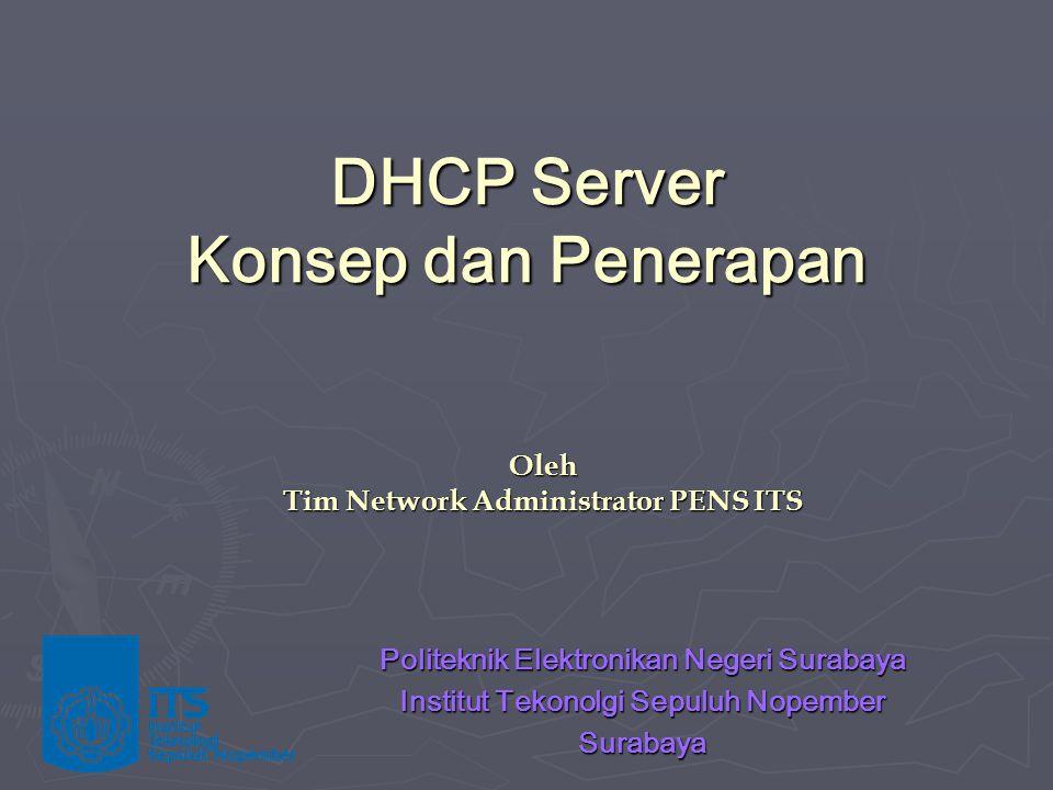 DHCP Server Konsep dan Penerapan