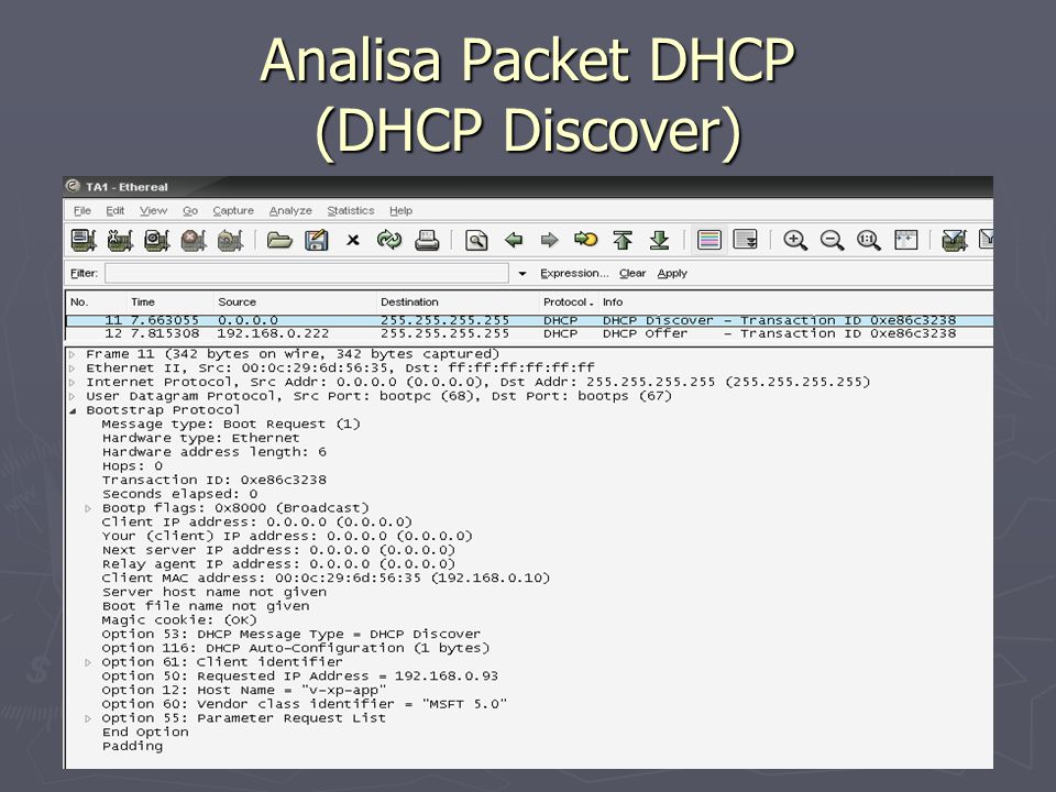 Analisa Packet DHCP (DHCP Discover)
