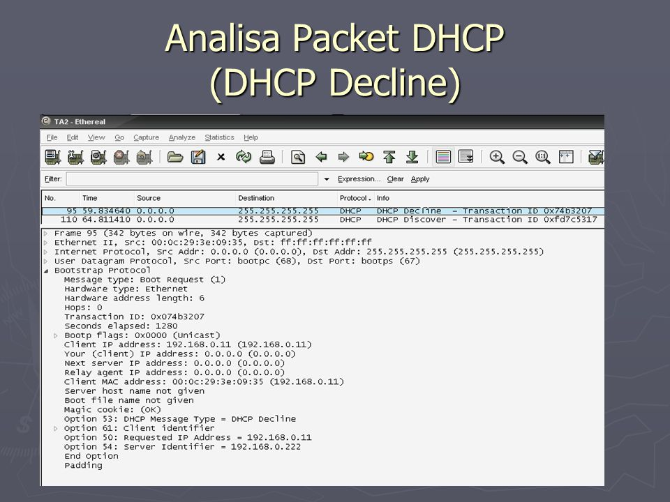 Analisa Packet DHCP (DHCP Decline)