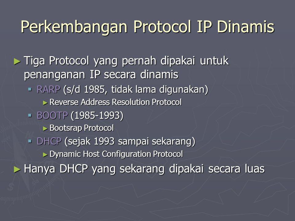 Perkembangan Protocol IP Dinamis