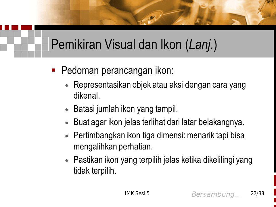 Pemikiran Visual dan Ikon (Lanj.)