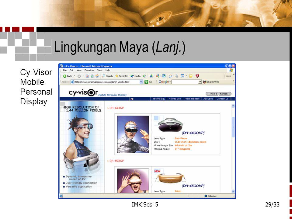Lingkungan Maya (Lanj.)