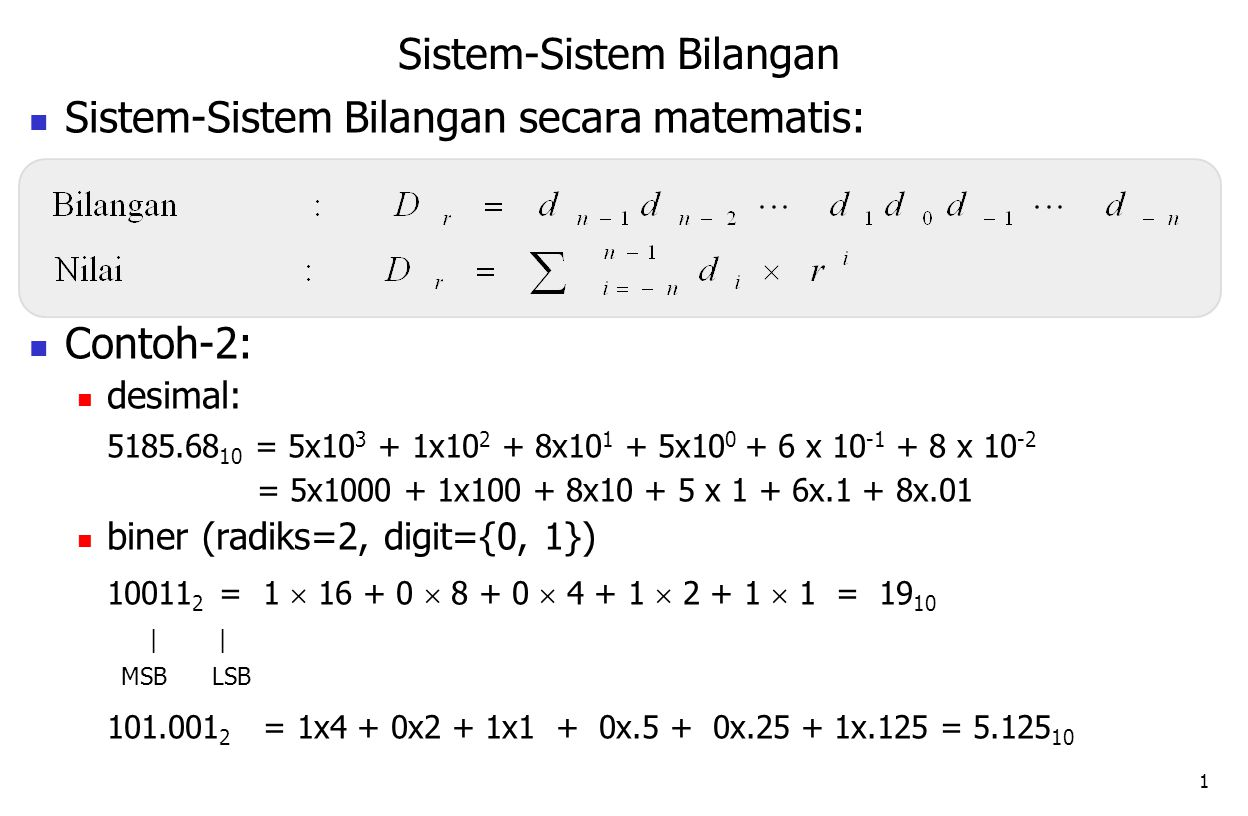 Sistem-Sistem Bilangan