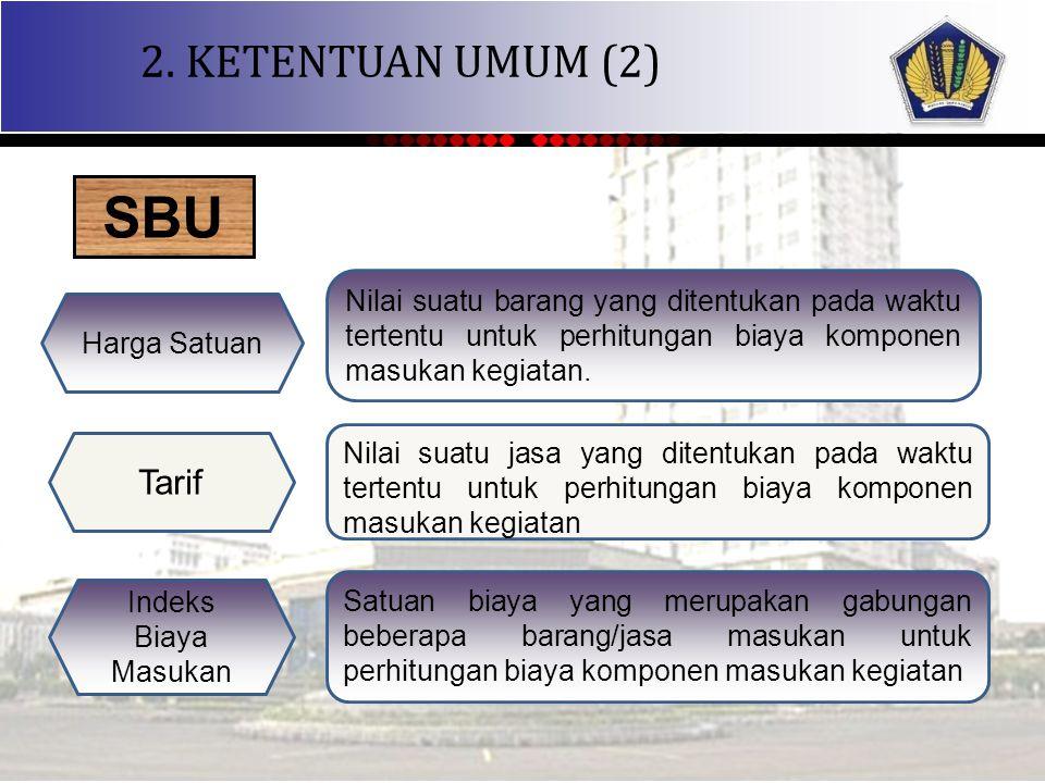 SBU 2. KETENTUAN UMUM (2) Tarif