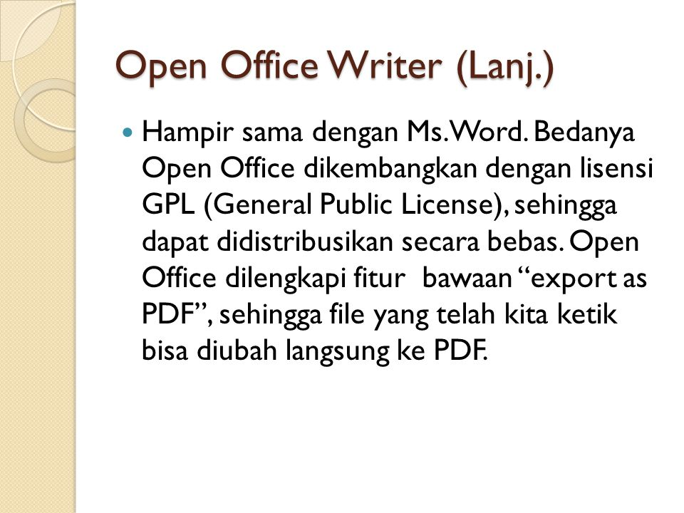 Open Office Writer (Lanj.)