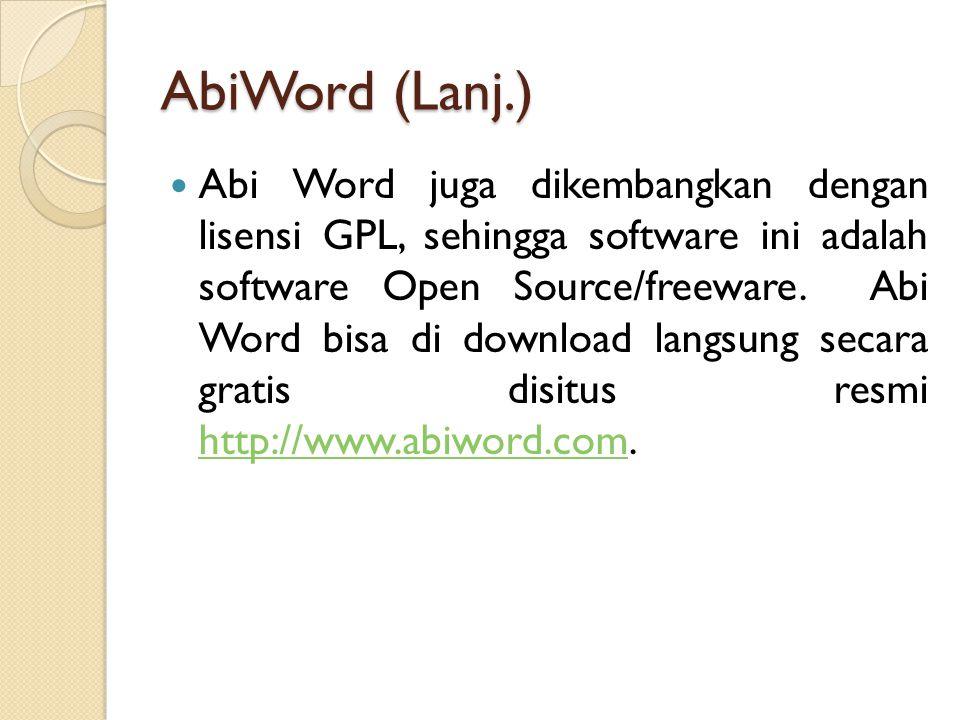 AbiWord (Lanj.)