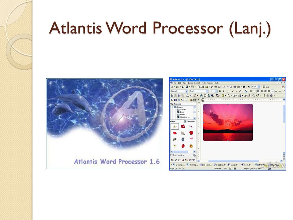 Atlantis Word Processor (Lanj.)