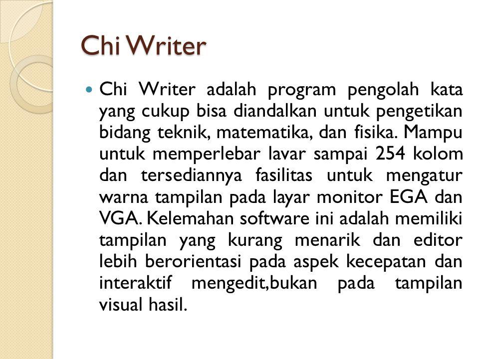 Chi Writer