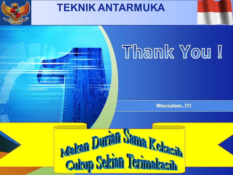 Thank You ! Makan Durian Sama Kekasih Cukup Sekian Terimakasih