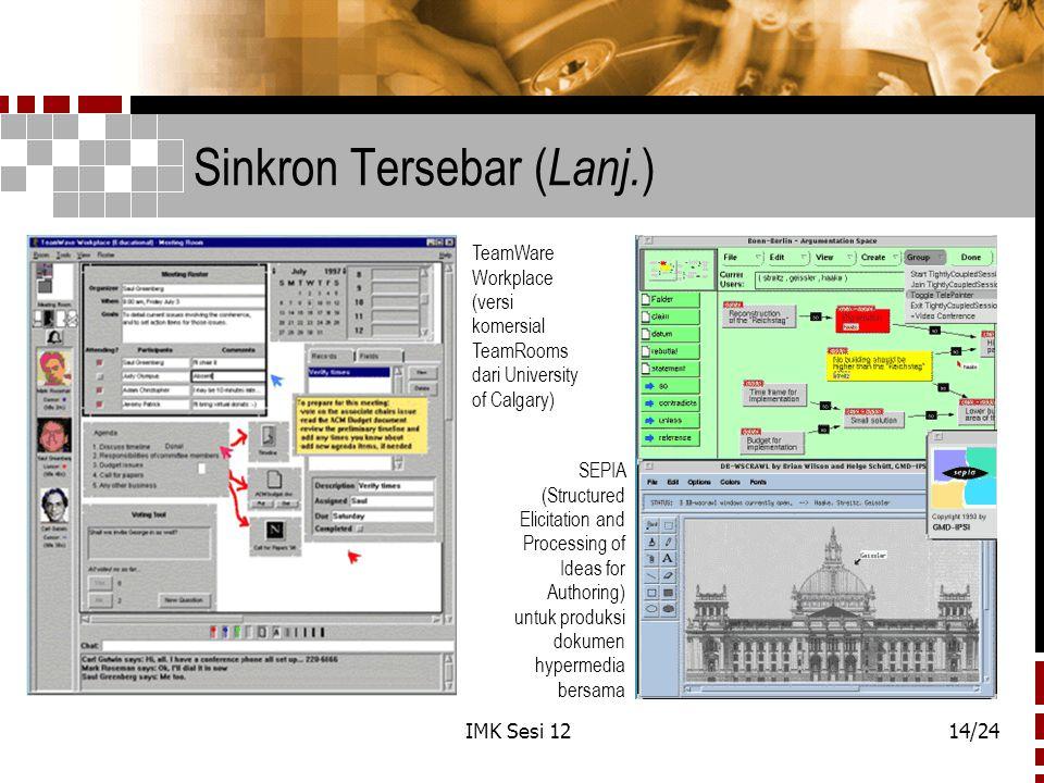 Sinkron Tersebar (Lanj.)