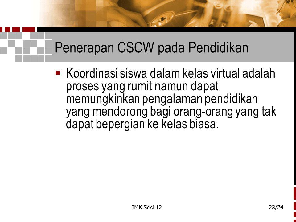 Penerapan CSCW pada Pendidikan