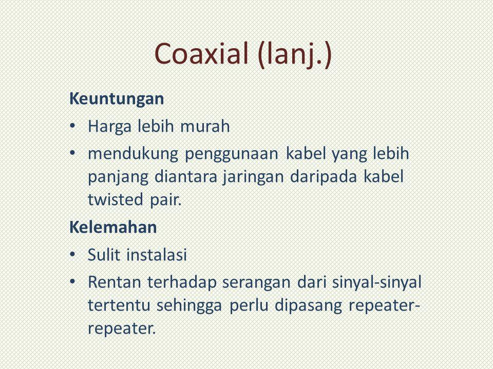 Coaxial (lanj.) Keuntungan Harga lebih murah