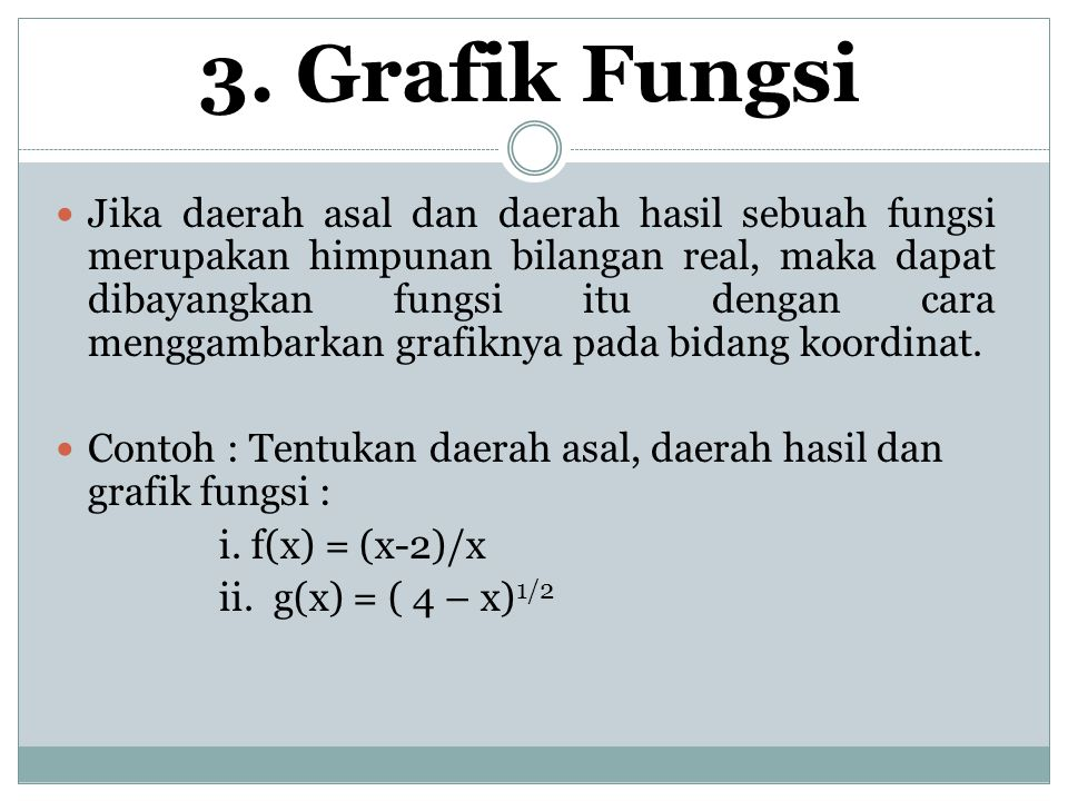 3. Grafik Fungsi
