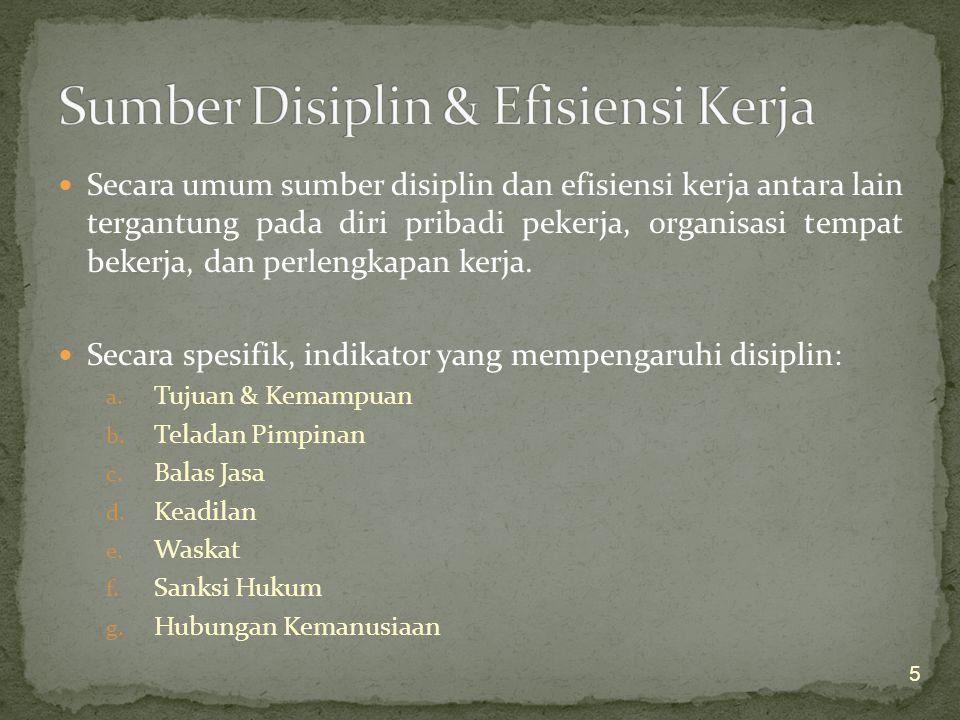 Sumber Disiplin & Efisiensi Kerja