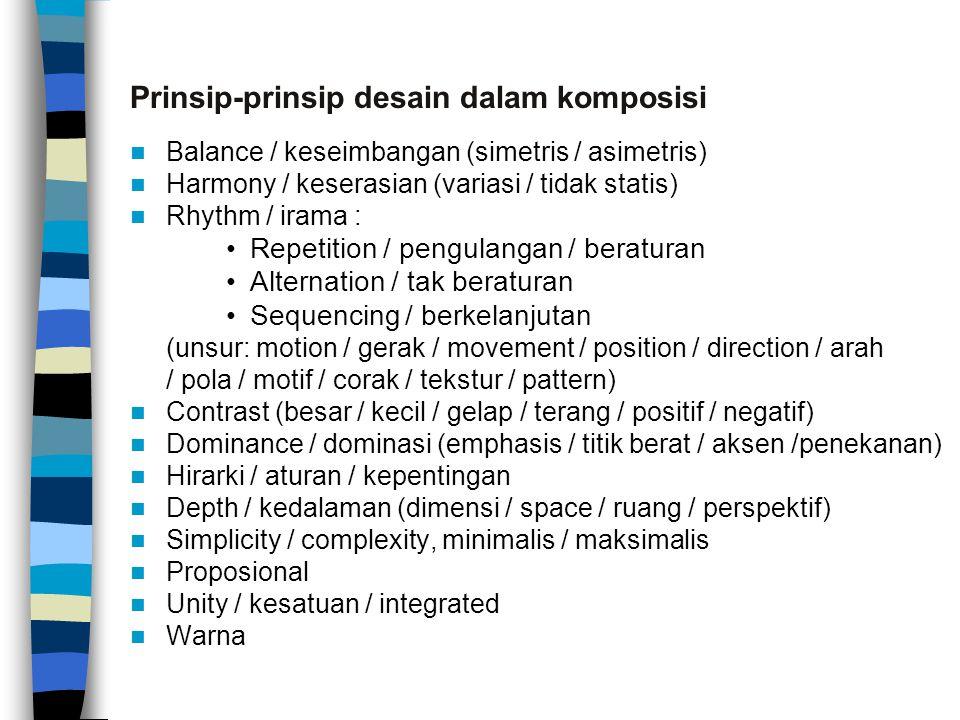 Prinsip-prinsip desain dalam komposisi