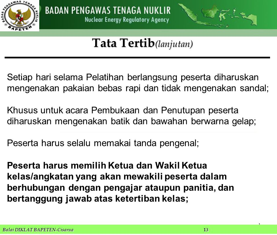 Tata Tertib(lanjutan)