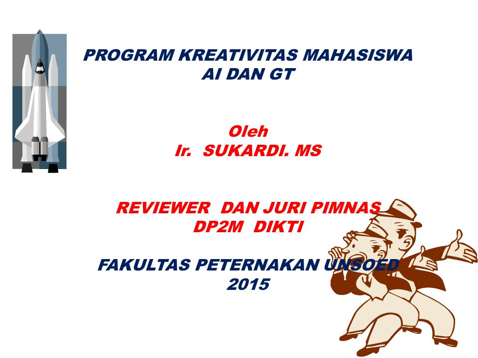 PROGRAM KREATIVITAS MAHASISWA AI DAN GT