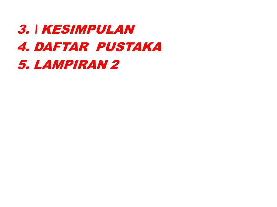 3. \ KESIMPULAN 4. DAFTAR PUSTAKA 5. LAMPIRAN 2