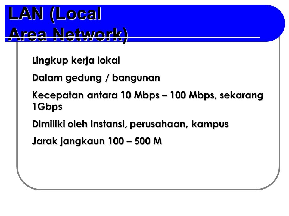 LAN (Local Area Network)