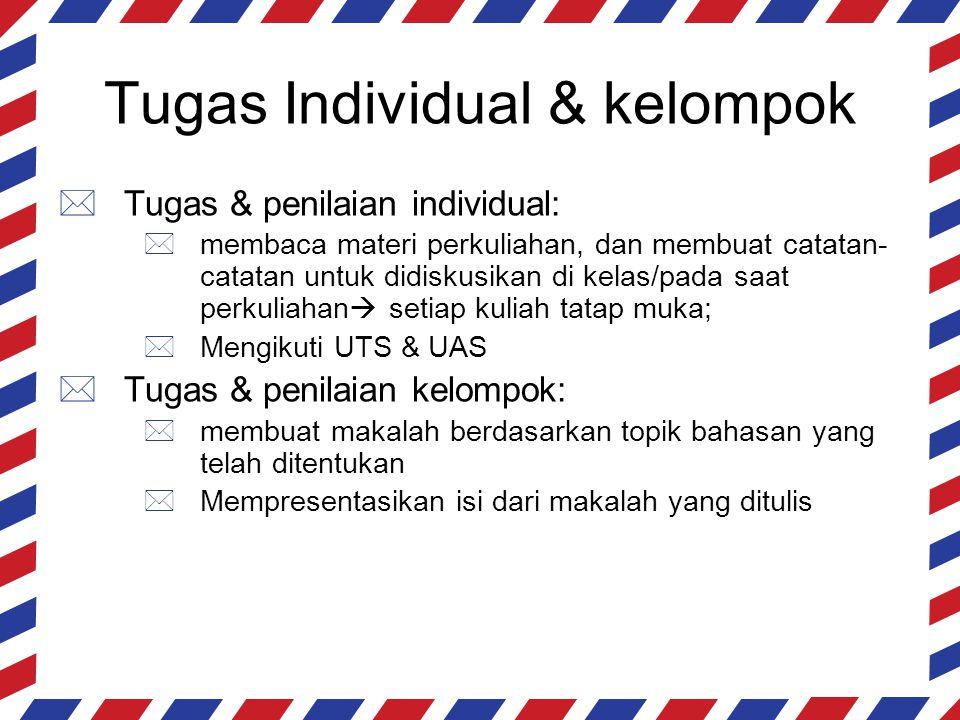 Tugas Individual & kelompok