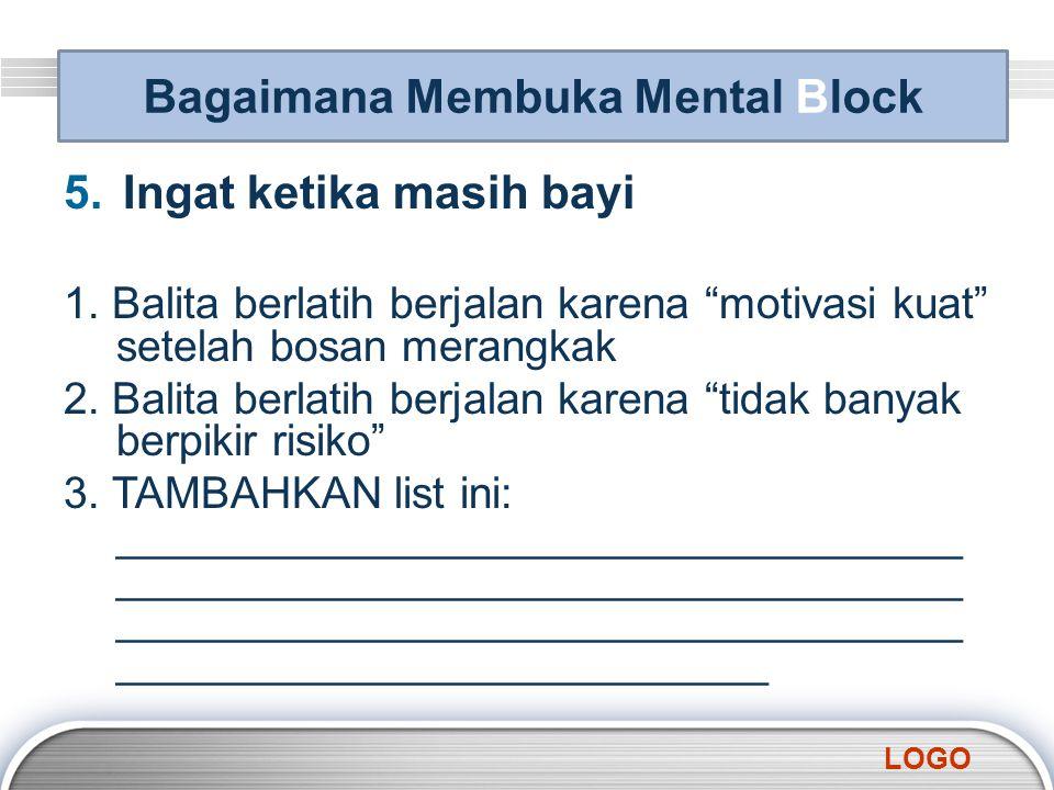 Bagaimana Membuka Mental Block