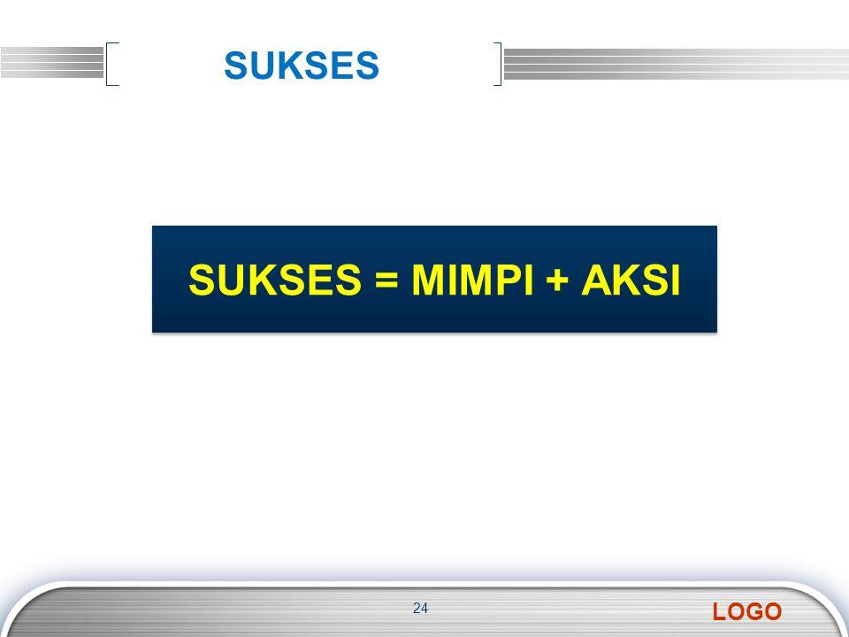 SUKSES SUKSES = MIMPI + AKSI