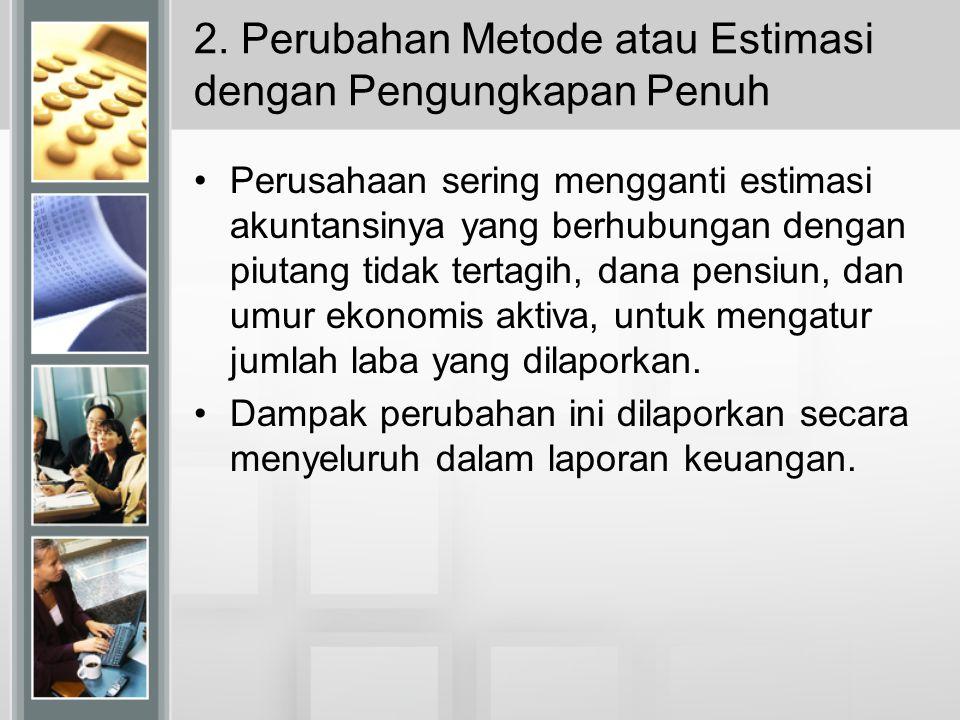 2. Perubahan Metode atau Estimasi dengan Pengungkapan Penuh