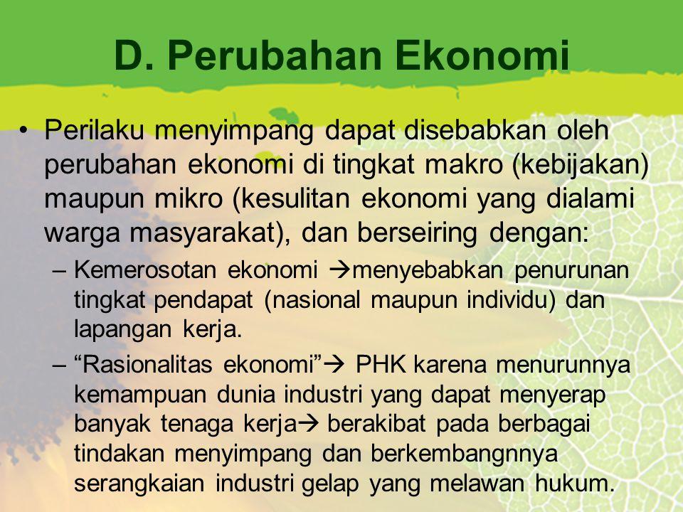 D. Perubahan Ekonomi