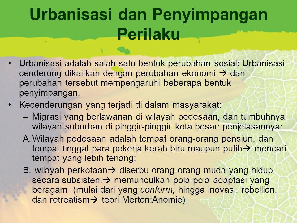 Urbanisasi dan Penyimpangan Perilaku