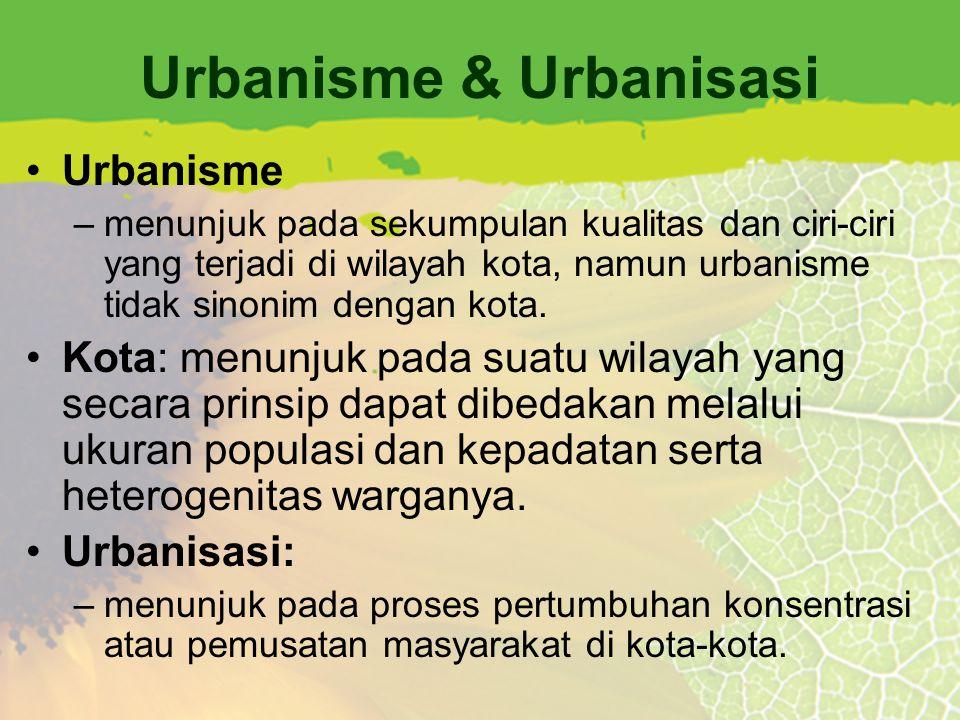Urbanisme & Urbanisasi