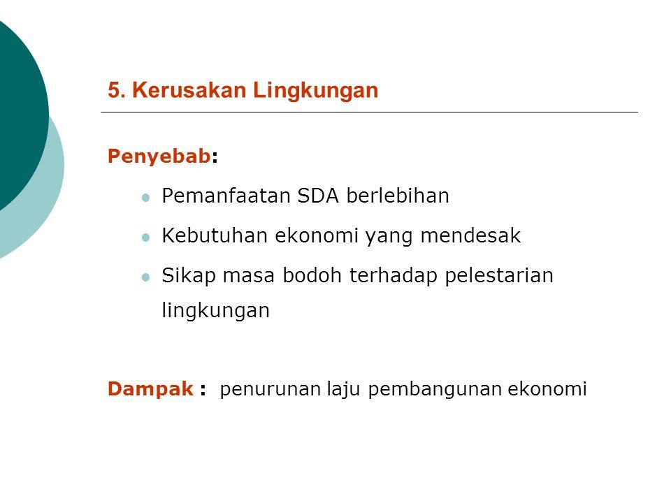 5. Kerusakan Lingkungan Pemanfaatan SDA berlebihan