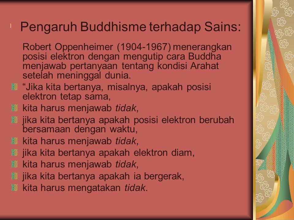 Pengaruh Buddhisme terhadap Sains: