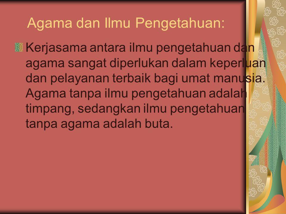 Agama dan Ilmu Pengetahuan: