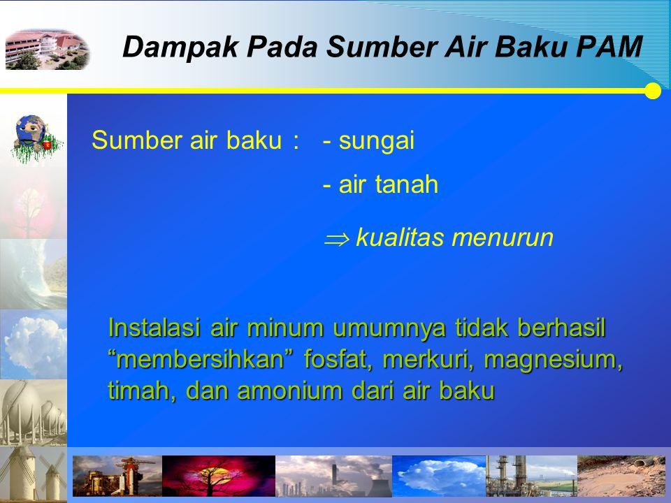 Dampak Pada Sumber Air Baku PAM