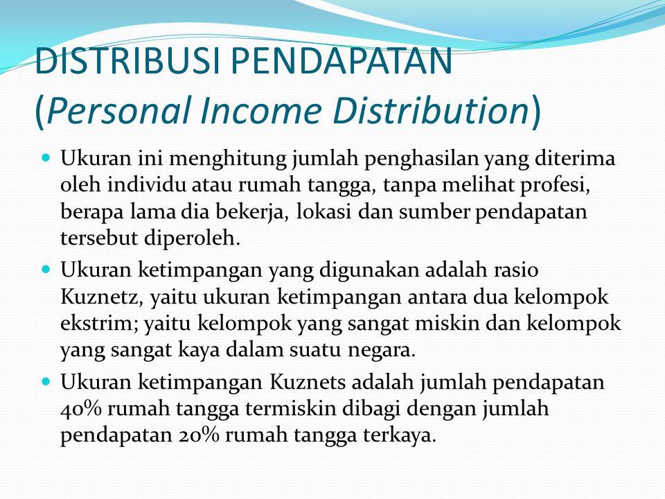 DISTRIBUSI PENDAPATAN (Personal Income Distribution)
