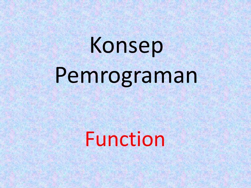 Konsep Pemrograman Function