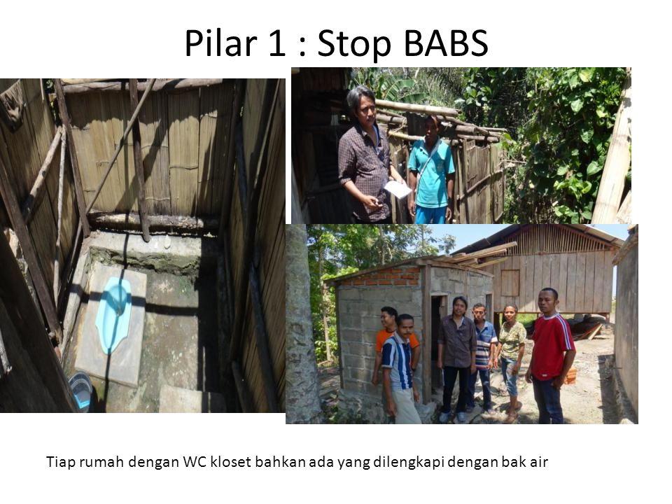 Pilar 1 : Stop BABS Tiap rumah dengan WC kloset bahkan ada yang dilengkapi dengan bak air