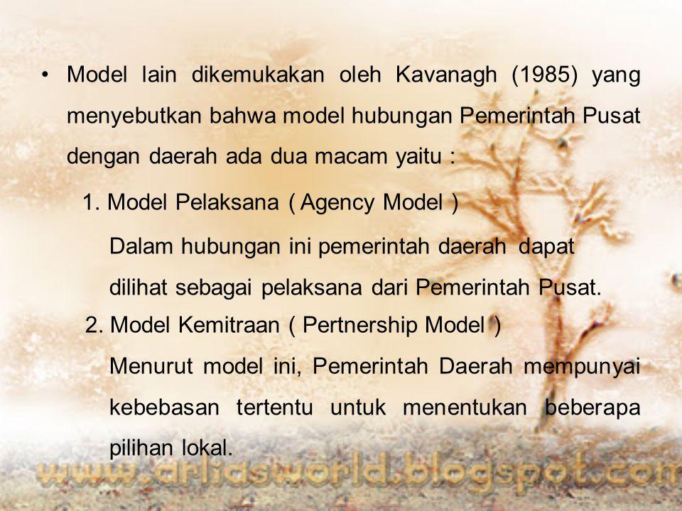 1. Model Pelaksana ( Agency Model )