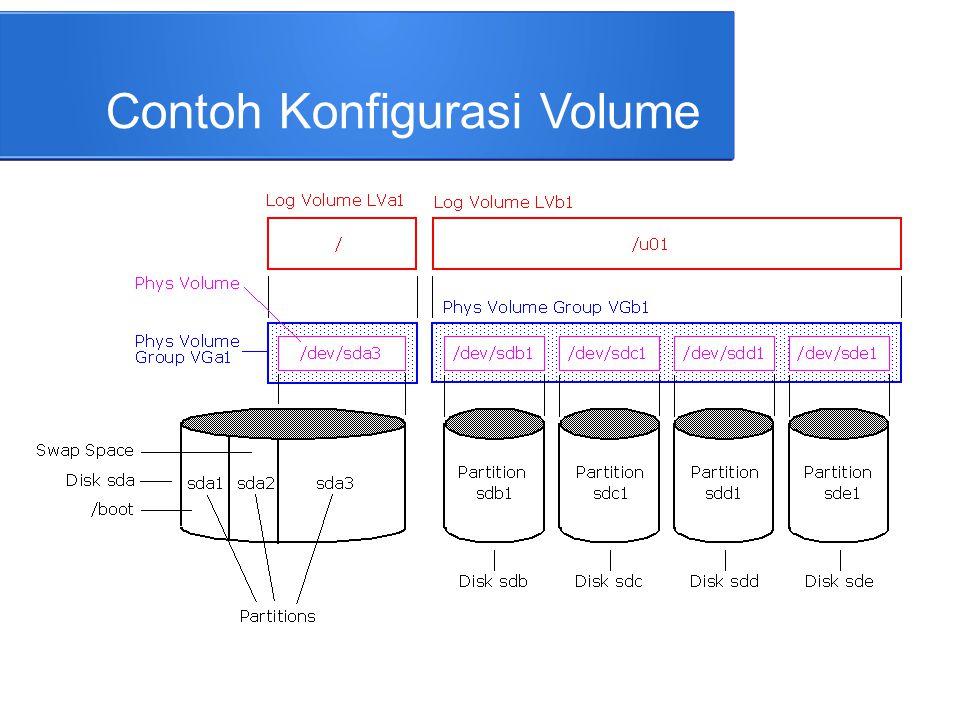 Contoh Konfigurasi Volume