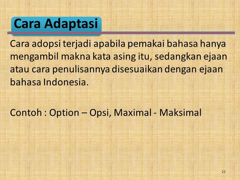 Cara Adaptasi
