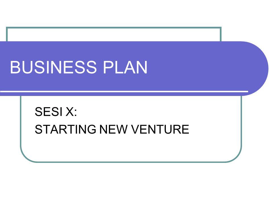 SESI X: STARTING NEW VENTURE