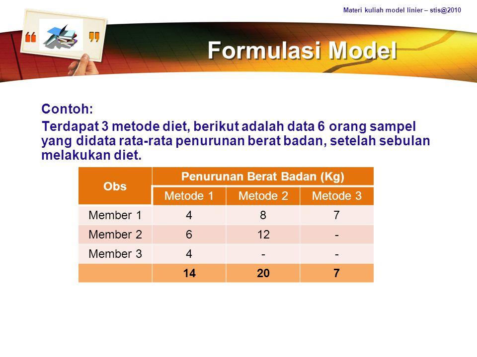 Penurunan Berat Badan (Kg)
