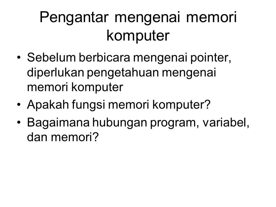 Pengantar mengenai memori komputer
