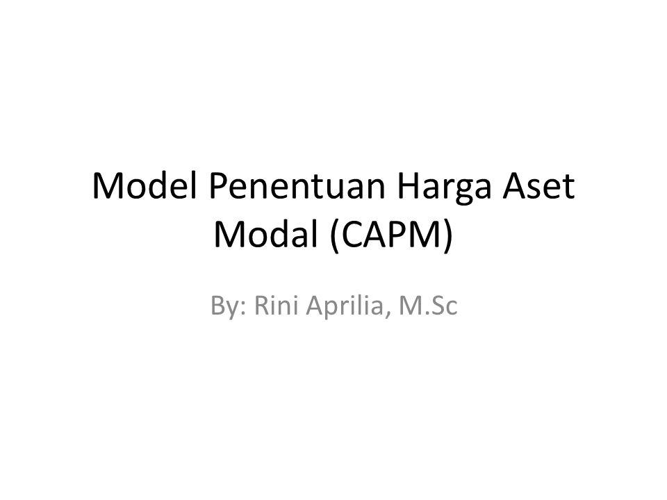 Model Penentuan Harga Aset Modal (CAPM)