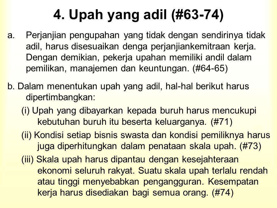4. Upah yang adil (#63-74)