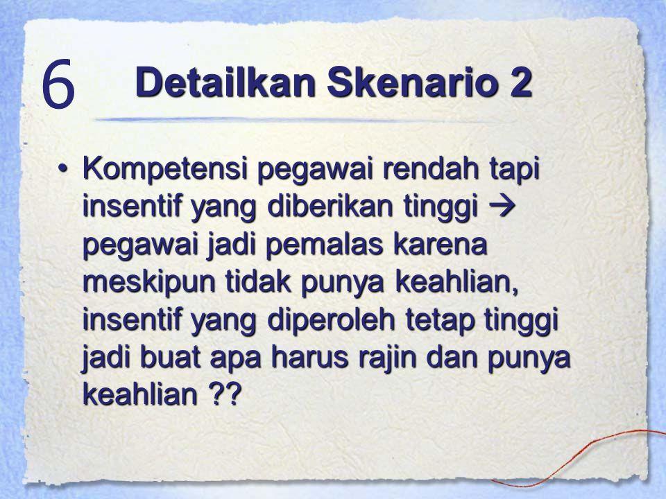 Detailkan Skenario 2 6.