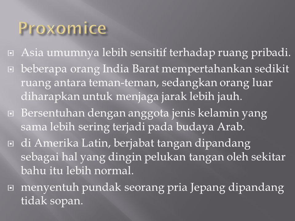 Proxomice Asia umumnya lebih sensitif terhadap ruang pribadi.