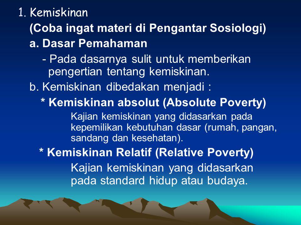 (Coba ingat materi di Pengantar Sosiologi) a. Dasar Pemahaman